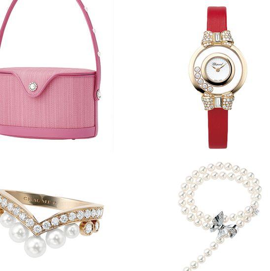 Product, Fashion accessory, Pink, Handbag, Bag, Jewellery, Magenta,