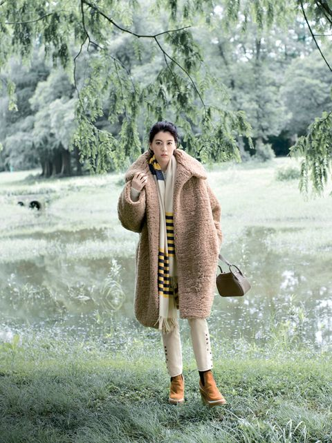 Outerwear, Fur, Grass, Photography, Coat, Costume,