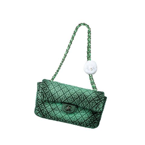 Green, Bag, Handbag, Turquoise, Fashion accessory, Shoulder bag, Chain, Design, Turquoise, Rectangle,