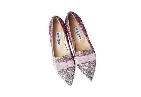 Footwear, Shoe, Beige, Pink, Court shoe, Tartan, Slingback, Fashion accessory, Espadrille, Glitter,