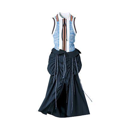 Clothing, Dress, Leather, Outerwear, Denim, Electric blue, Fashion accessory, Pattern, Sleeve, Formal wear,