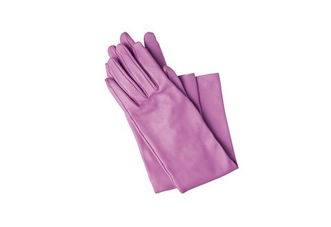 Glove, Safety glove, Violet, Purple, Lilac, Formal gloves, Hand, Fashion accessory, Leather, Personal protective equipment,