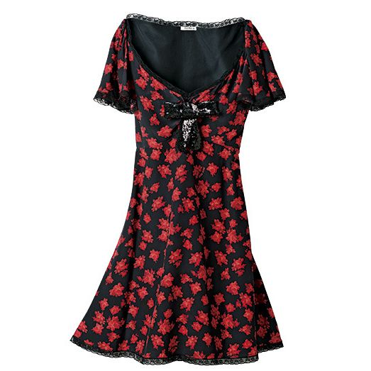 Clothing, Day dress, Black, Dress, Red, Sleeve, Pattern, Pink, Design, Neck,