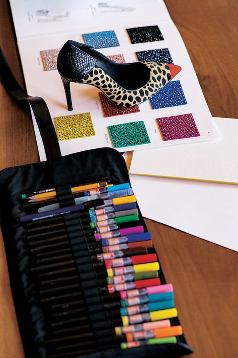 Design, Pencil case, Writing implement, Footwear, Pattern, Paper, Fashion accessory, Art, Office supplies, Stationery,