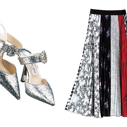 Clothing, Fashion, Footwear, Dress, Fashion accessory, Shoe, A-line, High heels, Silver, Fashion design,