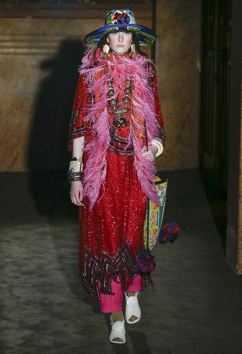 Clothing, Fashion, Fashion design, Pink, Haute couture, Dress, Magenta, Formal wear, Tradition, Fashion model,