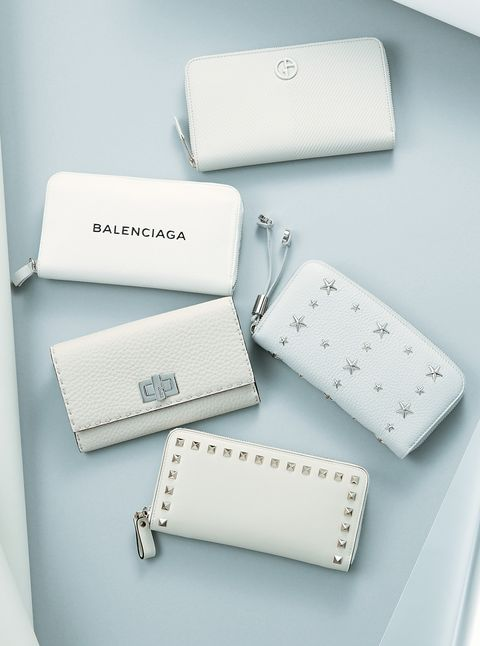 Fashion accessory, Font, Coin purse, Wallet, Rectangle,
