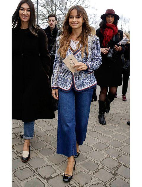 Clothing, Footwear, Leg, Sleeve, Textile, Denim, Standing, Outerwear, Winter, Coat,