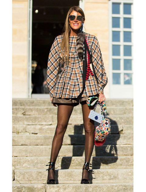 Clothing, Leg, Sleeve, Plaid, Outerwear, Bag, Fashion accessory, Tartan, Style, Street fashion,