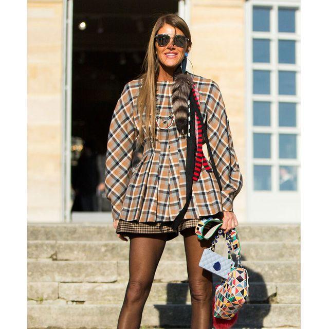 Clothing, Eyewear, Leg, Sleeve, Plaid, Outerwear, Tartan, Fashion accessory, Bag, Style,