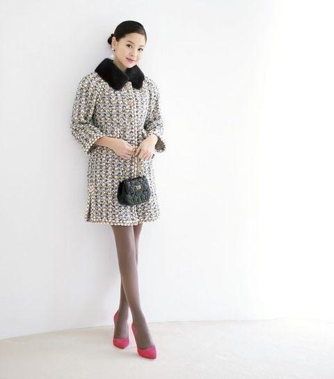 Clothing, White, Fashion model, Fashion, Pink, Dress, Outerwear, Neck, Shoulder, Waist,