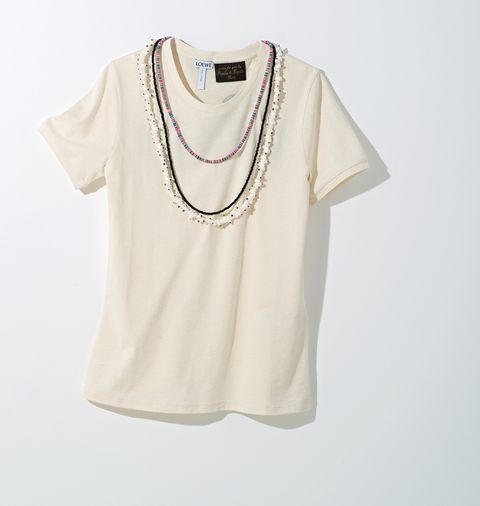 Clothing, White, Product, Sleeve, T-shirt, Neck, Beige, Blouse, Top, Collar,