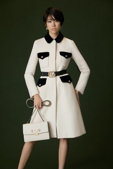 Clothing, Trench coat, White, Fashion model, Coat, Fashion, Overcoat, Outerwear, Sleeve, Dress,