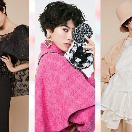 Sleeve, Collar, Style, Formal wear, Blazer, Fashion, Neck, Black hair, Fashion model, Beige,