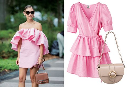 Clothing, Pink, Shoulder, Dress, Fashion, Joint, Fashion model, Sleeve, Neck, Footwear,
