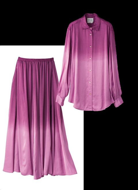 Clothing, Pink, Purple, Magenta, Violet, Sleeve, Outerwear, Dress, Textile, Robe,