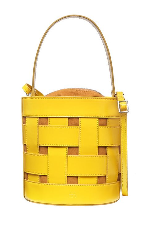 Bag, Handbag, Yellow, Shoulder bag, Fashion accessory, Material property, Leather,