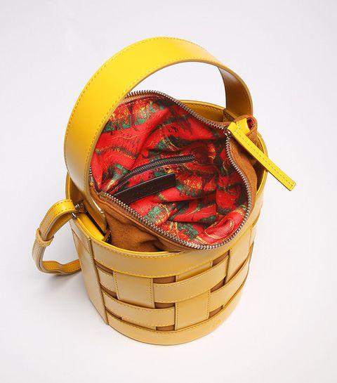 Yellow, Fashion accessory, Bag, Basket, Present, Handbag,