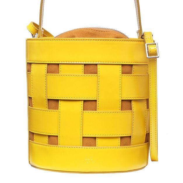 Yellow, Bag, Handbag, Shoulder bag, Fashion accessory, Leather, Material property,
