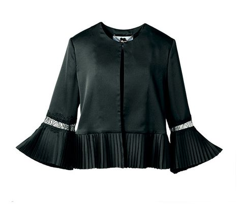 Clothing, Black, Outerwear, Sleeve, Fashion, Blouse, Collar, Jacket,