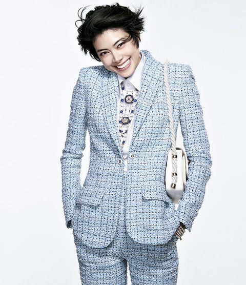 Sleeve, Collar, Textile, Standing, Outerwear, Style, Pattern, Blazer, Fashion, Street fashion,