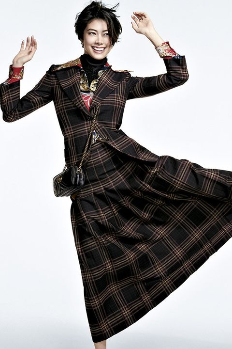 Clothing, Fashion, Tartan, Pattern, Dress, Sleeve, Design, Plaid, Fashion model, Textile,