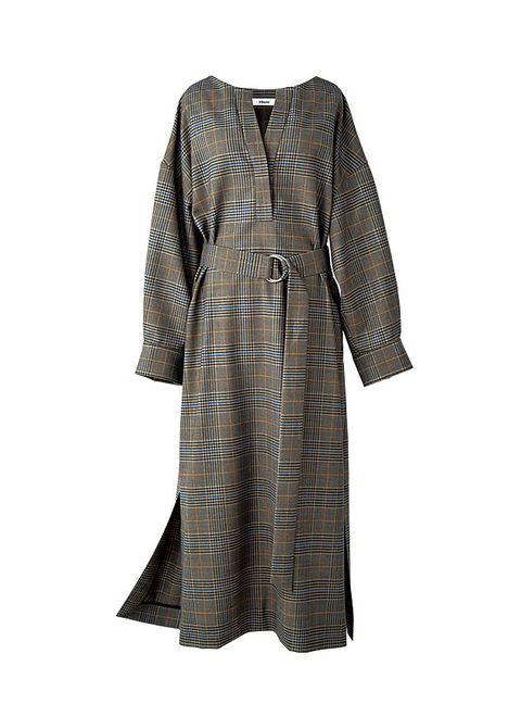 Clothing, Dress, Sleeve, Robe, Day dress, Outerwear, Brown, Nightwear, Pattern, Beige,