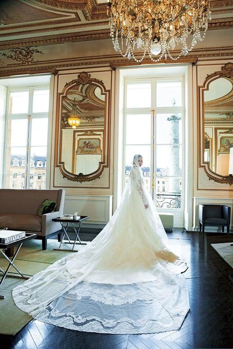 Photograph, Dress, Wedding dress, Gown, Clothing, Bride, Bridal clothing, Room, House, Architecture,