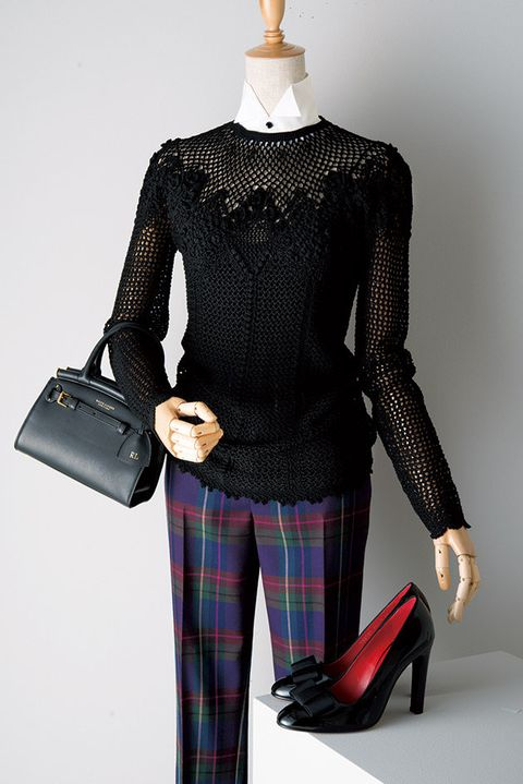 Clothing, Plaid, Tartan, Pattern, Sleeve, Shoulder, Fashion, Design, Leggings, Joint,