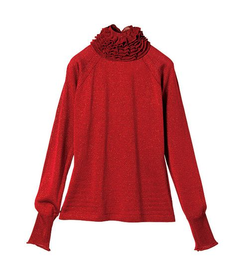 Clothing, Sleeve, Red, Outerwear, Maroon, Neck, Hood, Blouse, Collar, Top,