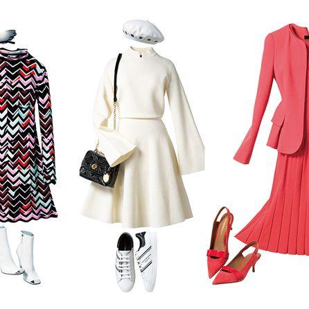 Clothing, White, Pattern, Fashion, Fashion illustration, Outerwear, Tartan, Dress, Day dress, Coat,