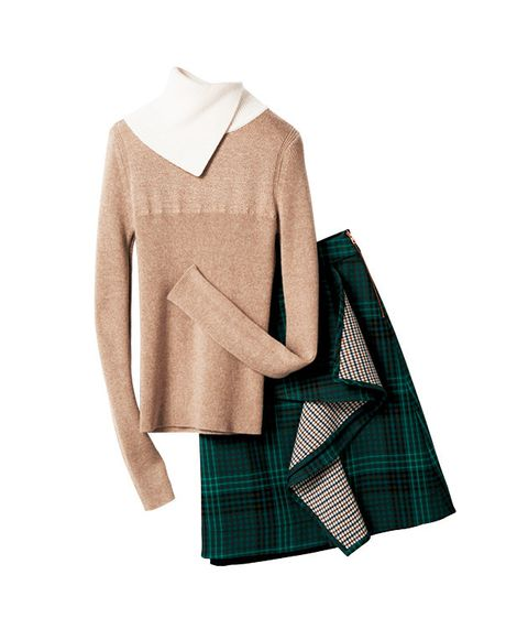 Clothing, Tartan, Green, Plaid, Pattern, Outerwear, Sleeve, Design, Beige, Textile,