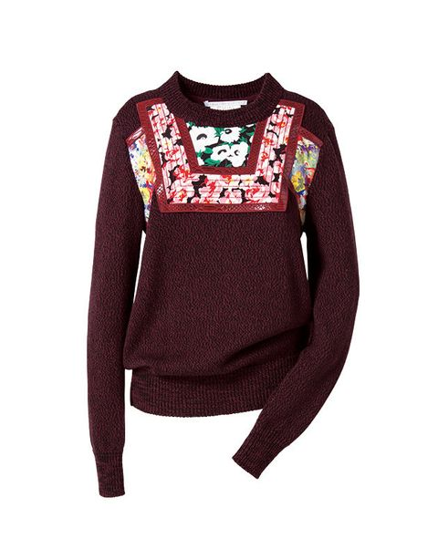 Clothing, Long-sleeved t-shirt, Sweater, Sleeve, Maroon, Outerwear, T-shirt, Top, Neck, Magenta,
