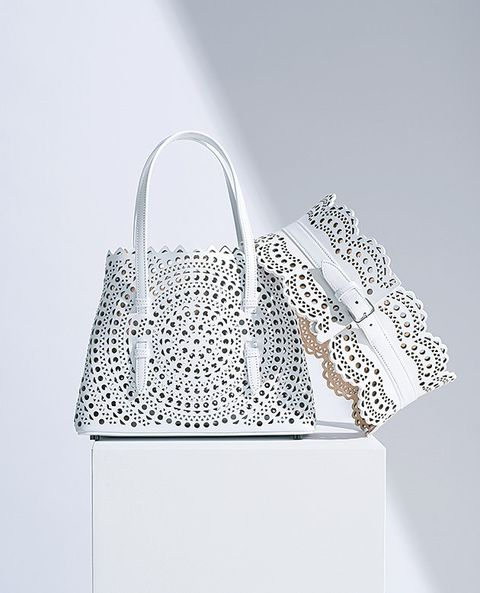 Handbag, Bag, White, Product, Fashion accessory, Silver, Design, Shoulder bag, Material property, Font,