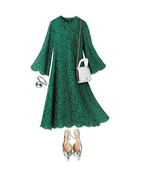 Green, Clothing, Sleeve, Outerwear, Turquoise, Dress, Poncho, Textile, Costume, Pattern,