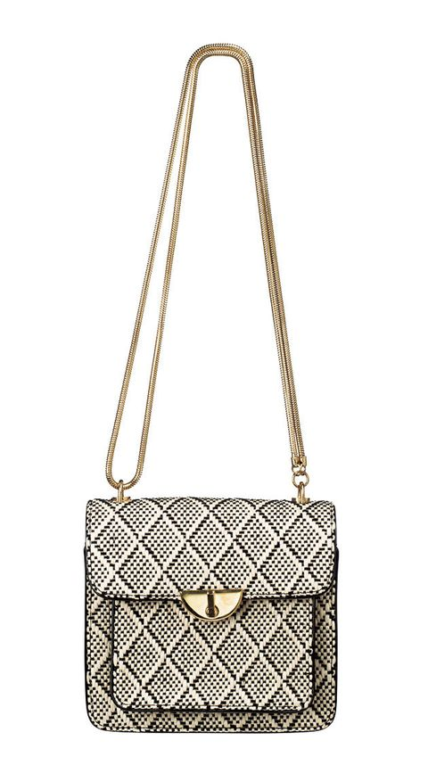 Shoulder bag, Bag, Handbag, Fashion accessory, Chain, Fashion, Beige, Material property, Leather, Silver,