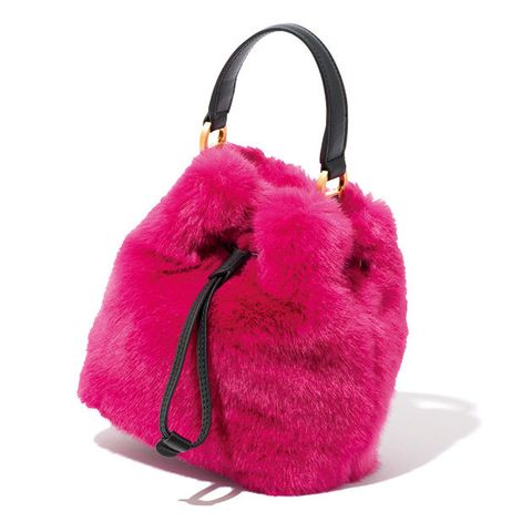 Handbag, Bag, Pink, Magenta, Fashion accessory, Fur, Shoulder bag, Tote bag, Hobo bag, Luggage and bags,