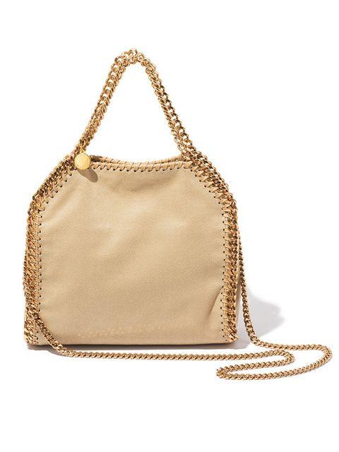 Bag, Handbag, Shoulder bag, Fashion accessory, Beige, Brown, Chain, Tan, Shoulder, Leather,