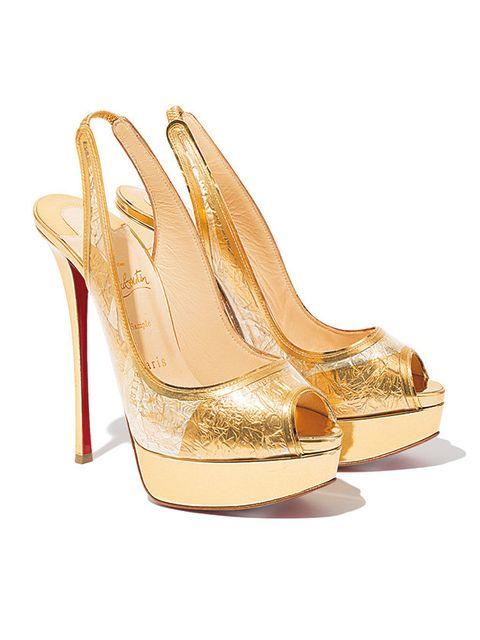 Footwear, High heels, Slingback, Shoe, Sandal, Gold, Beige, Bridal shoe, Basic pump, Court shoe,