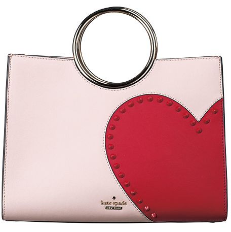 Red, Handbag, Fashion accessory, Bag, Pink, Heart, Material property, Keychain,