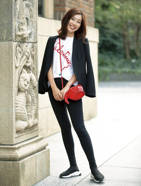 Clothing, Street fashion, White, Photograph, Black, Blazer, Leg, Snapshot, Outerwear, Fashion,