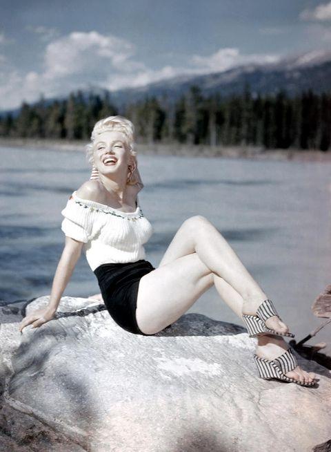 Photograph, Blond, Beauty, Leg, Photo shoot, Model, Footwear, Water, Photography, Human leg,