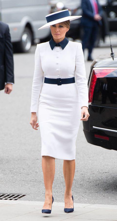 White, Clothing, Street fashion, Pencil skirt, Fashion, Dress, Fashion model, Waist, Black-and-white, Formal wear,