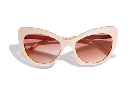 Eyewear, Sunglasses, Glasses, White, Personal protective equipment, Brown, Pink, Beige, Transparent material, Goggles,
