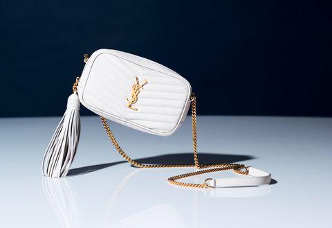 White, Product, Bag, Handbag, Fashion accessory, Eyewear, Still life photography, Silver,