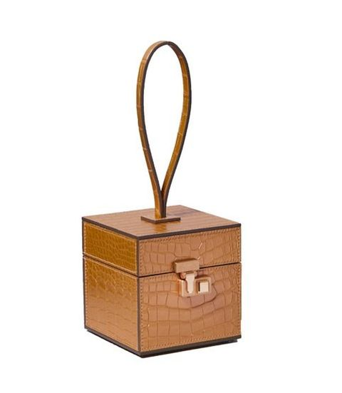 Box, Furniture, Fashion accessory, Metal, Wood, Table, Rectangle,