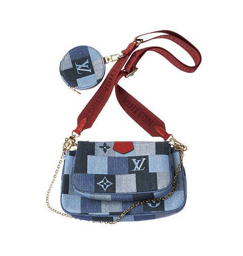 Bag, Handbag, Shoulder bag, Fashion accessory, Denim, Design, Strap, Material property, Beige, Pattern,