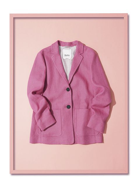 Clothing, Outerwear, Pink, Jacket, Sleeve, Blazer, Top, Suit, Sweater, Magenta,