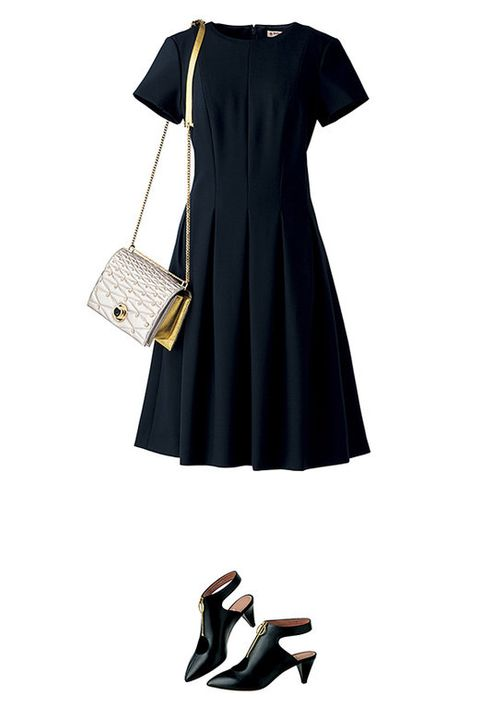 Clothing, White, Black, Dress, Little black dress, Footwear, Day dress, Sleeve, Shoulder, Cocktail dress,