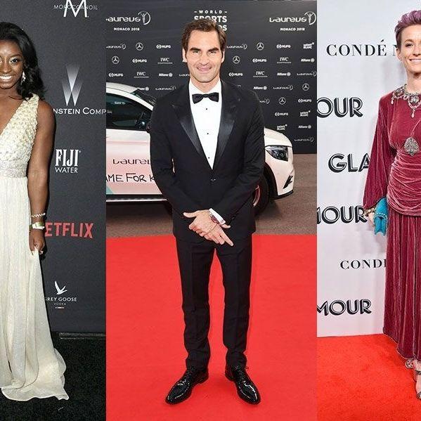 Clothing, Red carpet, Suit, Formal wear, Carpet, Dress, Fashion, Tuxedo, Fashion model, Flooring,
